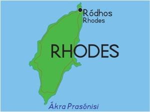 остров Родос карта