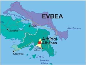 карта Эвбея